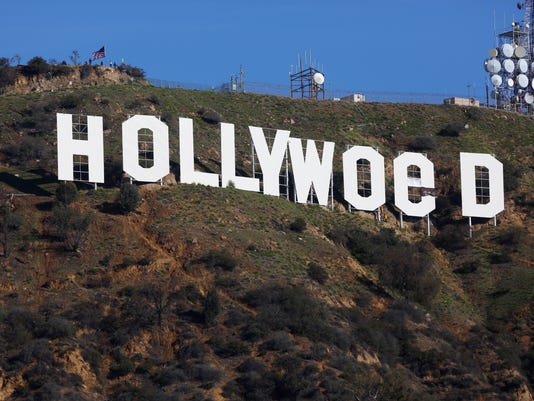 AP HOLLYWOOD SIGN VANDALIZED A ENT USA CA