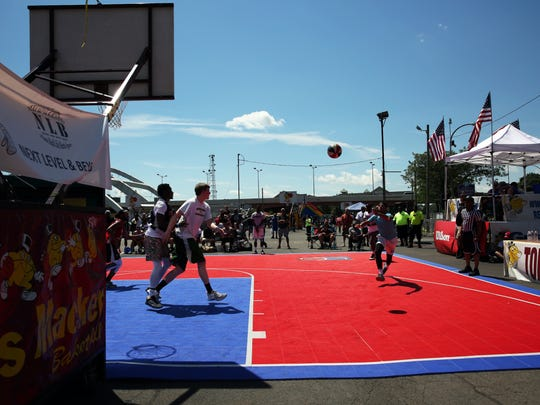 The Gus Macker Basketball tournament came to Rochester and held games for all ages right on Court Street on Saturday, June 24, 2017.