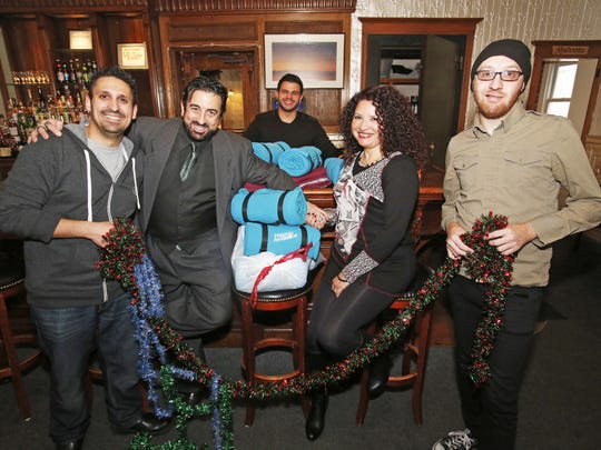 Blank-Fest volunteers Peter James, Kenn Rowell, Anthony Franco, Yvonne Sotomayor and Rob Horvath during Blank-Fest 2014.