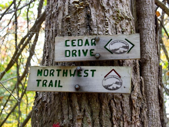 Mohonk Preserve trail signs.