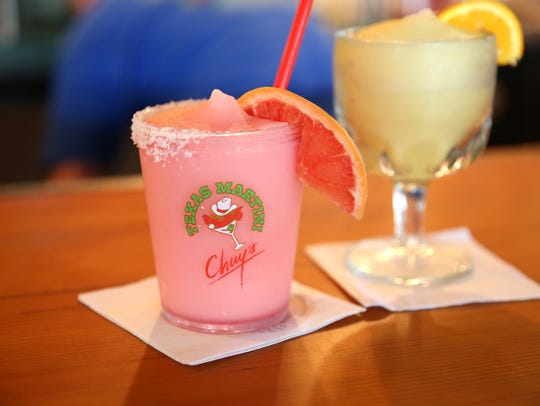 Chuy's Red Frozen Rita and fresh-squeezed lime juice