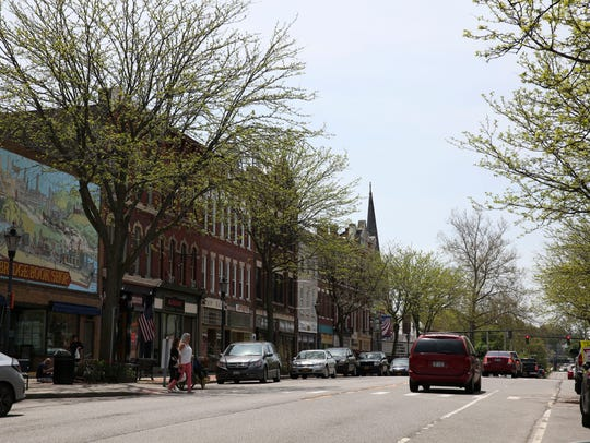 A look down Main Street in Brockport.