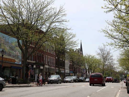 A look down Main Street in Brockport.