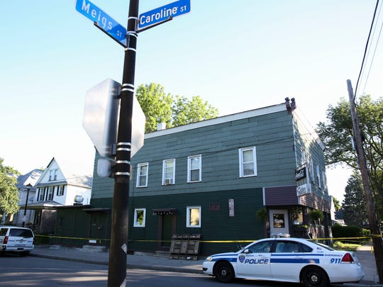 A Rochester woman was stabbed to death at her home on Caroline Street, near Meigs, early Friday morning.