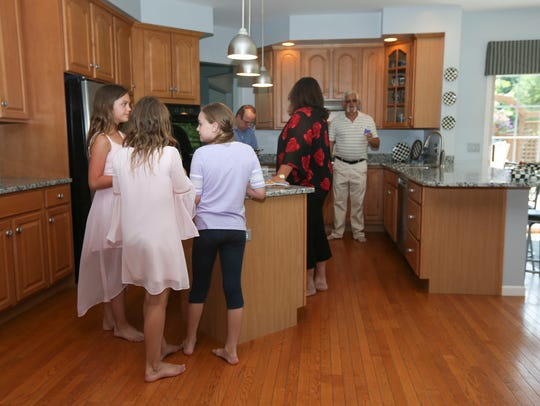 A full house of guests at a busy open house