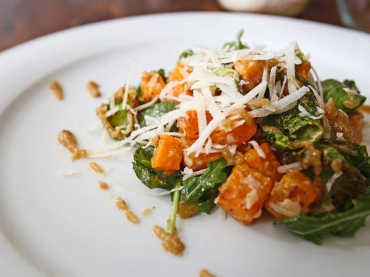 l'inizio's Roasted Butternut Squash salad with crispy