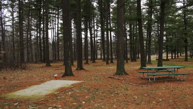 A campsite in North Wood County Park on March 10, 2016.