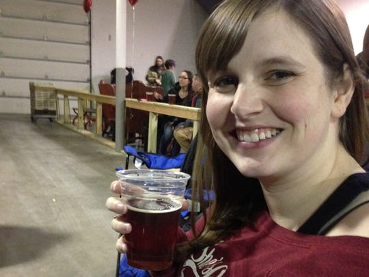 Jessica Pellman with Indy Girls Pint Out.
