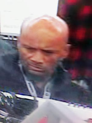 Sparks police are looking for a suspect that allegedly pepper sprayed a K-Mart security guard.