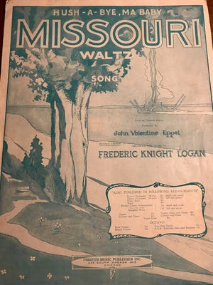 """""""Missouri Waltz"""" sheet music, provided by Barth Fraker, who will play the song as the first dance of Gov.-elect Eric Greitens' inaugural ball."""