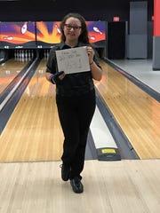 Hilton freshman Elena Carr bowled an 831 three-game