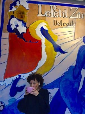Le Petit Zinc owner Karima Sorel in restaurant's Midtown location.