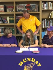 Munday's Kristen Kuehler signed to compete in track