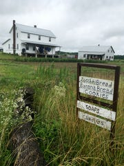 Roadside signs will let you know what various farms in Tennessee's Amish country have for sale.