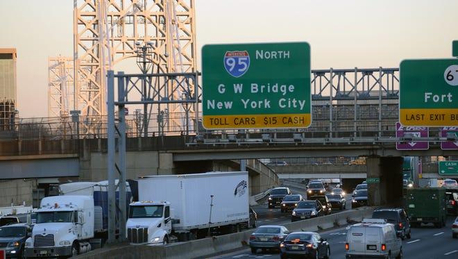 The Interstate 95/Route 4 approach to the George Washington Bridge was found to be the second-most-congested bottleneck for truckers in the U.S.