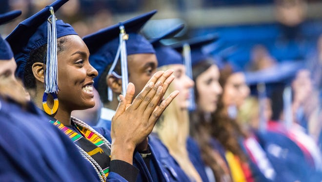UNC Asheville graduates received their diplomas at the winter commencement Friday, December 15, 2017.
