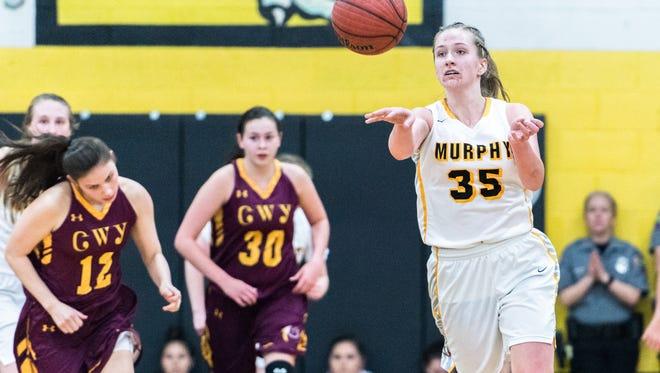 The Murphy high school girls basketball team hosted Cherokee high school defeating them 55-32.