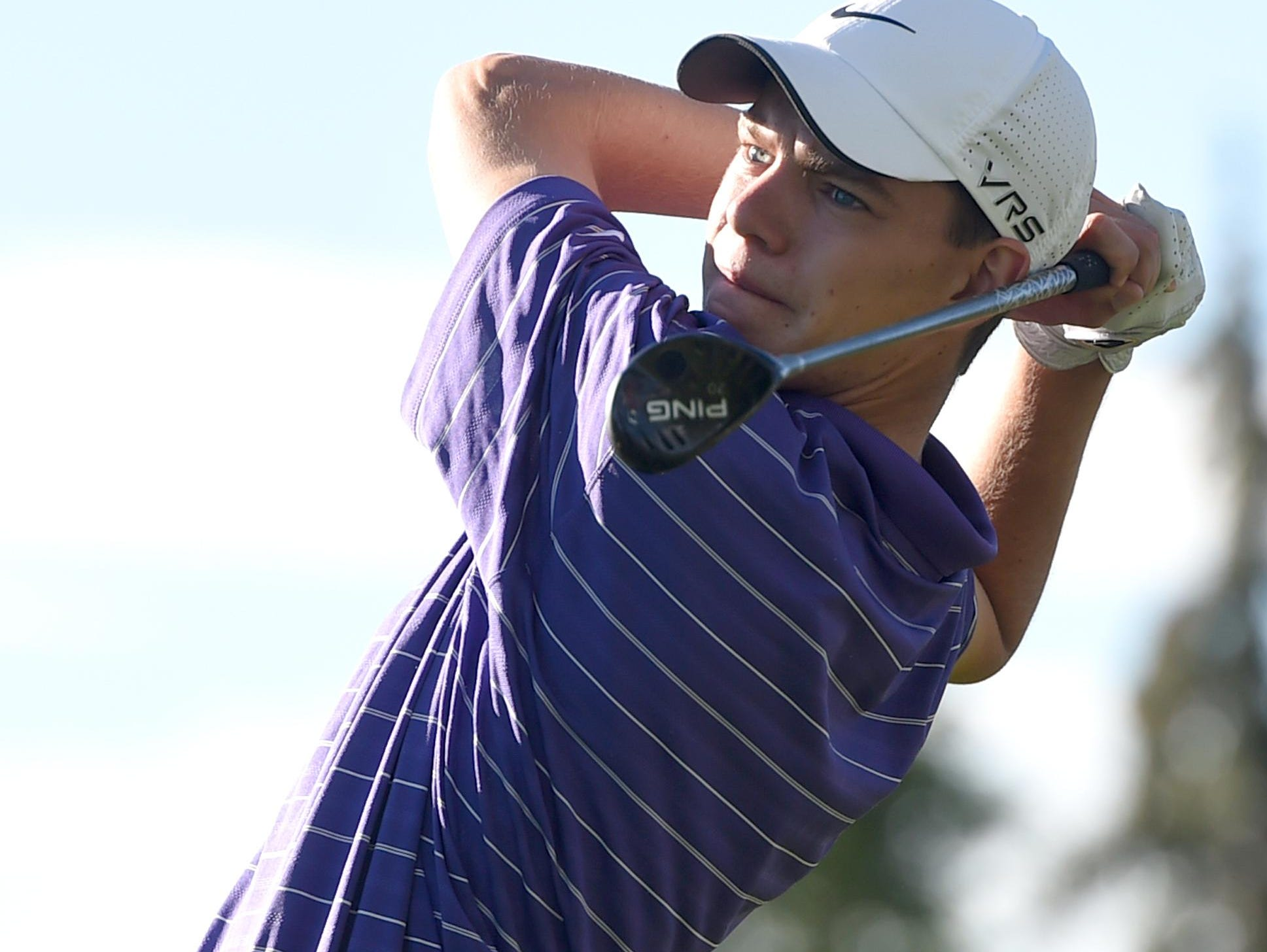 Fort Collins High School's AJ Ott, shown in a file photo, won Monday's Front Range League meet in Greeley with a round of 68.