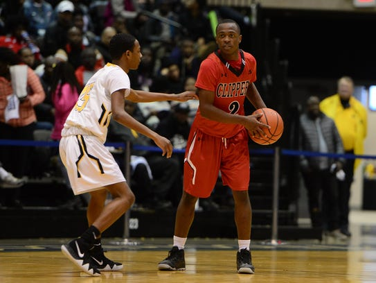 Bennett's Montaz Jefferson looks to pass against Hartford
