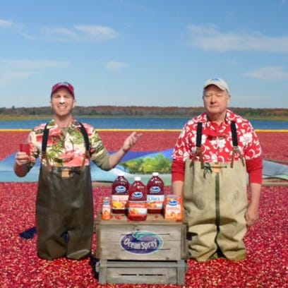 A screenshot of the Ocean Spray commercial shot in