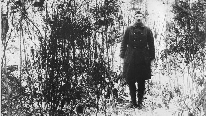Sgt. Alvin C. York, hero of the U.S. Army during World War I, is seen in this undated photograph during the war in France.
