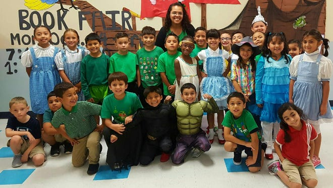 Second-grade students from the School of Science and Technology participated in the Literary Parade on Friday, Oct. 29.