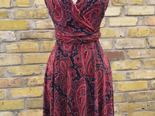 Red is a great color for fall. This dress is from Lela Boutique.