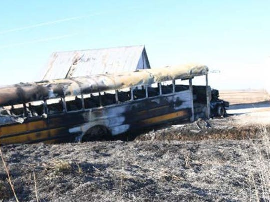 A bus fire killed a 16-year-old student and 74-year-old man in Pottawattamie County.