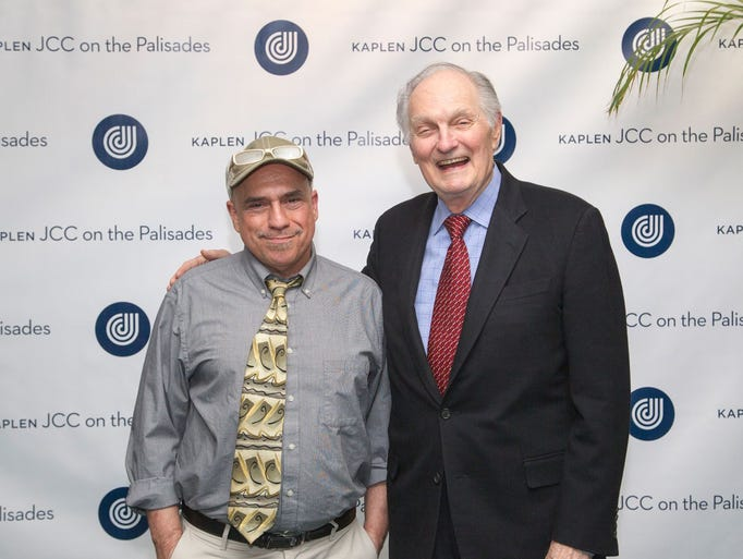 Bill Ervolino, Alan Alda. Kaplen JCC on the Palisades