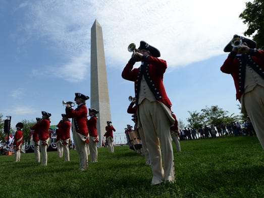 The Army's Old Guard Fife and Drum Corps performs at