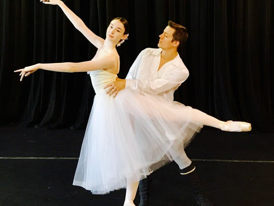 Dancers from Giselle Act II, which will be performed