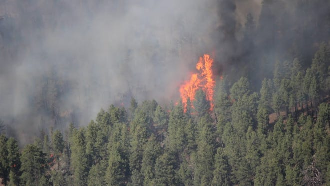 A fire burning on the Arizona Strip burns at the size of 1,240 acres.
