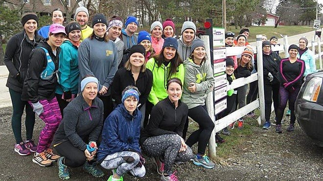 Participants are shown from the first wine run, from 6 Mile Cellars in Harborcreek Township.  It was the start of a do-it-yourself race series to Erie County wineries.