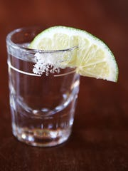A shot of tequila at Bakersfield in Over-the-Rhine.