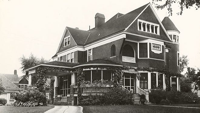 The Dedrick W. Bergstrom home was constructed in 1893 at the corner of Caroline and Church streets, where the Neenah Post Office now stands. It was later inhabited by his daughter, Mary McQuarrie Bergstrom.