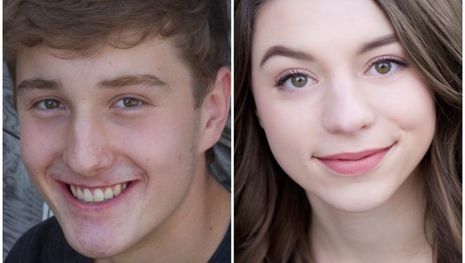 Travis Vandenberg, left, and Paige Neumeyer are headed to New York City to represent the Center Stage High School Musical Theater Awards program at the Jimmy Awards.