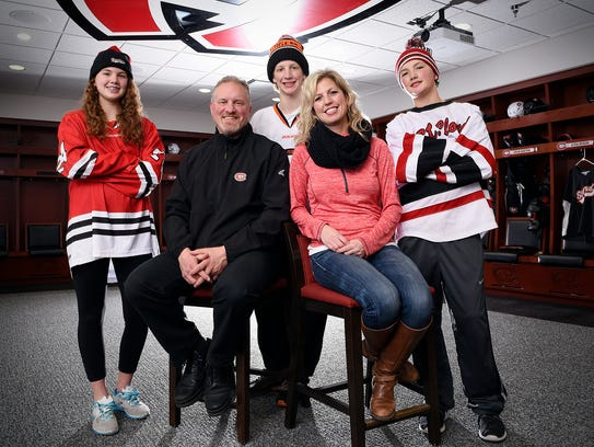 Eric Rud, St. Cloud State Women's hockey coach, with