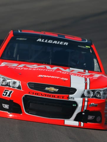 Justin Allgaier had a crew member ejected during Sunday's