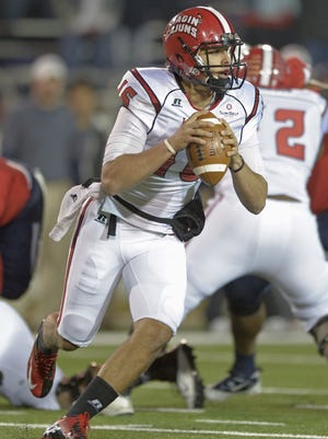 UL quarterback Brooks Haack, shown here in a 2013 game at South Alabama, suggests winning the last three in 2015 will help everyone breath easy.