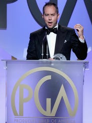 Jonas Rivera accepts the award for outstanding producer