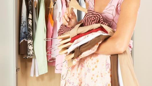 Crammed closets can help others.