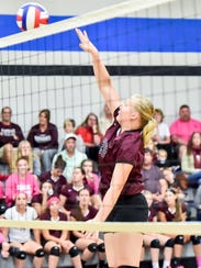 Southern Fulton's Olivia Mottern lays down a spike