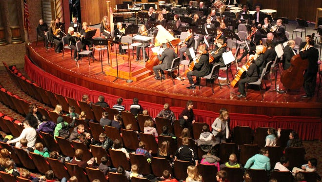 The Sheboygan Symphony Orchestra held a concert Wednesday for fourth graders across Sheboygan County.