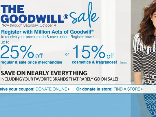 Goodwill discount coupon