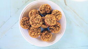 Do it together! Get your kids to help make these carrot muffins