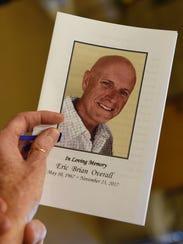 The funeral program for Oakland County deputy sheriff