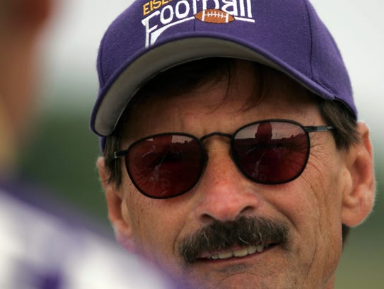 New Berlin Eisenhower varsity football coach Jeff Setz