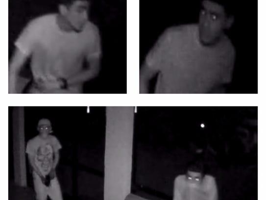 A trio of armed burglars were caught on surveillance