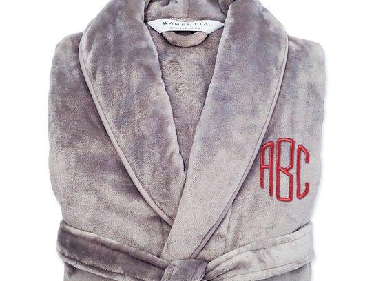 Wamsutta plush initial robe