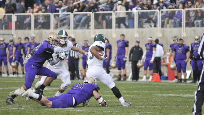 Nolan Saraceni of Montana Tech ran for 273 yards against Carroll College last week.